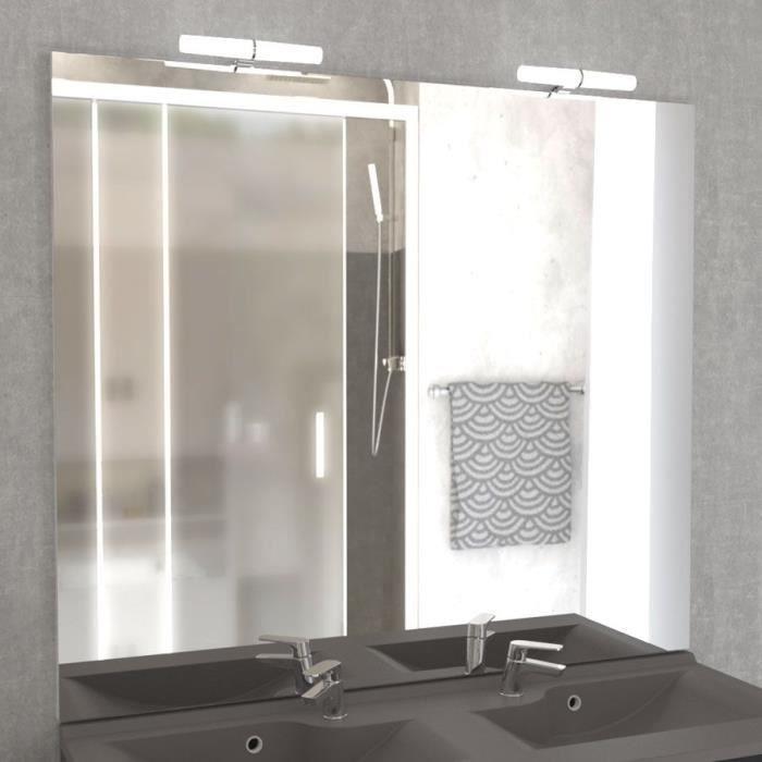 Miroir avec applique maora 3 largeurs achat vente for Miroir avec applique