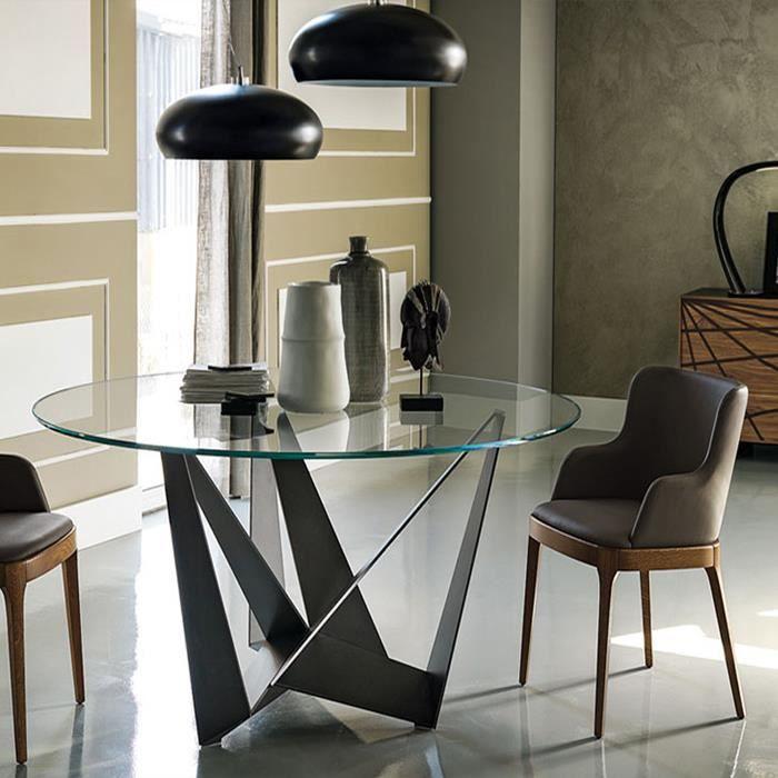 Design table a manger for Table salle a manger ronde en verre