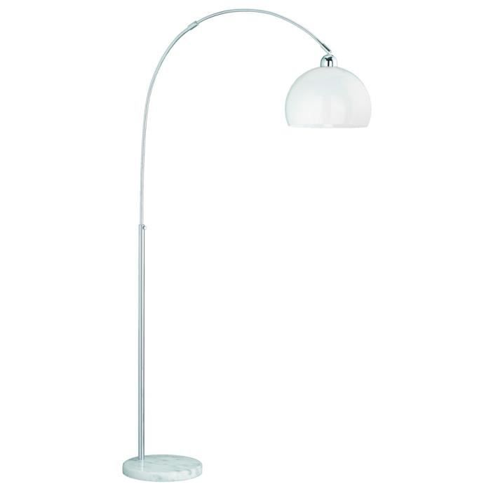 conception d arc stand stand lampe hauteur r glable marbre chrome acrylique blanc r46001906. Black Bedroom Furniture Sets. Home Design Ideas