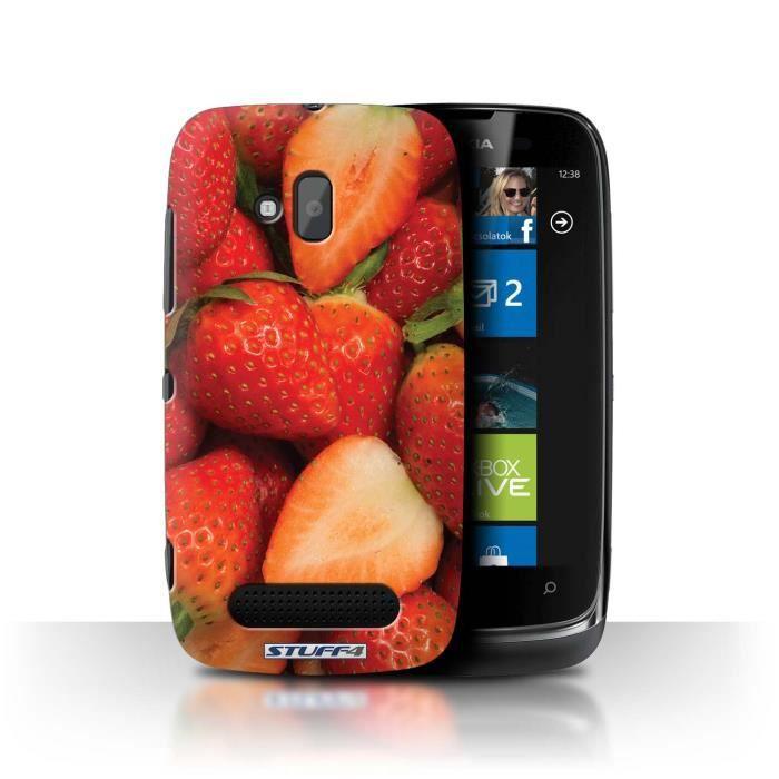 coque de stuff4 / coque pour nokia lumia 610 / fraise/tranche design