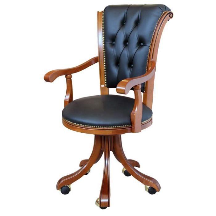 Fauteuil de bureau classique achat vente chaise de bureau cdiscount - Bureau classique ...