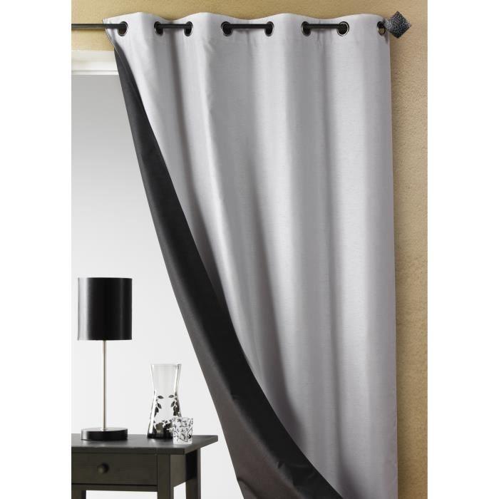 rideau double face shantung uni bordeaux 140 x achat. Black Bedroom Furniture Sets. Home Design Ideas