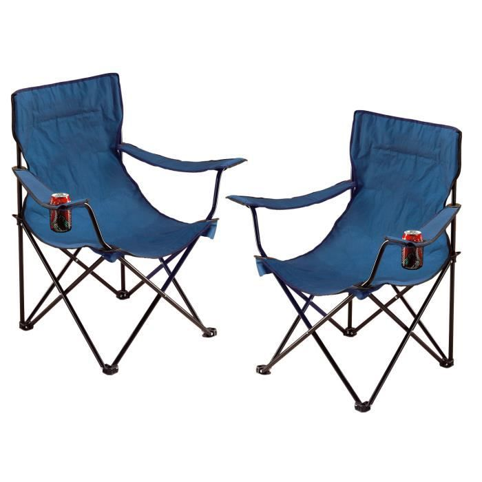 fauteuil de camping x 2 prix pas cher cdiscount. Black Bedroom Furniture Sets. Home Design Ideas