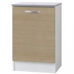 Paris prix meuble bas 1 porte 60cm smarty naturel for Meuble a bas prix