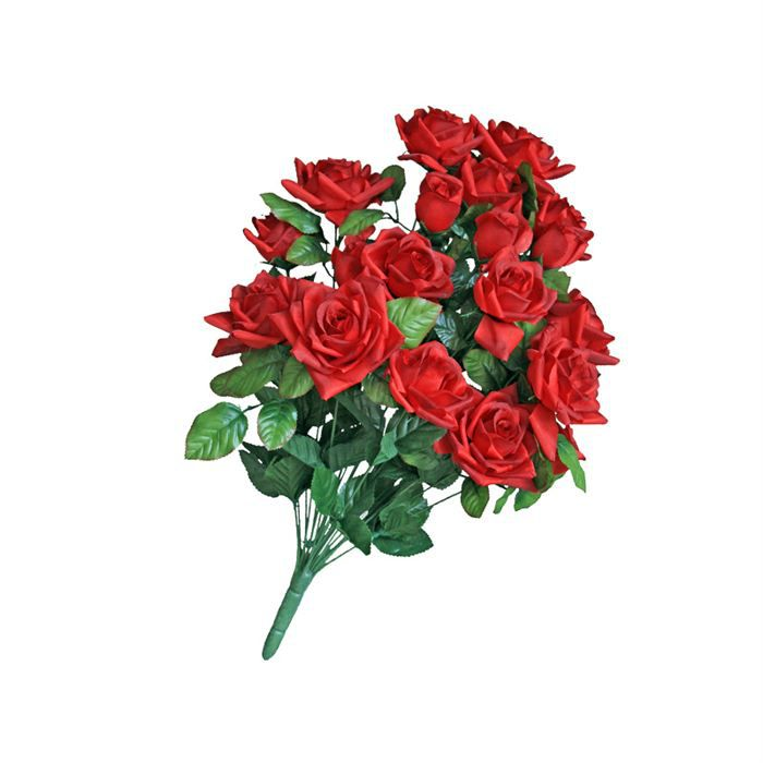 Bouquet r f venus c rouge achat vente fleur artificielle s ch e plas - Bouquet fleurs artificielles ...