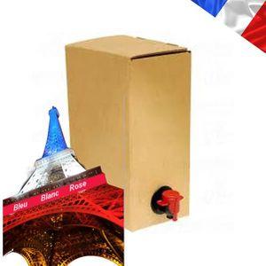 VIN ROSÉ 5 litres de rosé-FRANCE-CAHORS-en BIB-Tirage facil