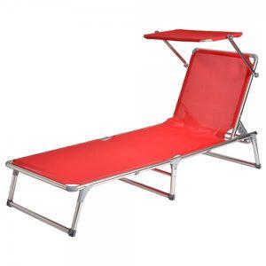 Chaise pliante legere achat vente pas cher cdiscount for Chaise longue pliante legere