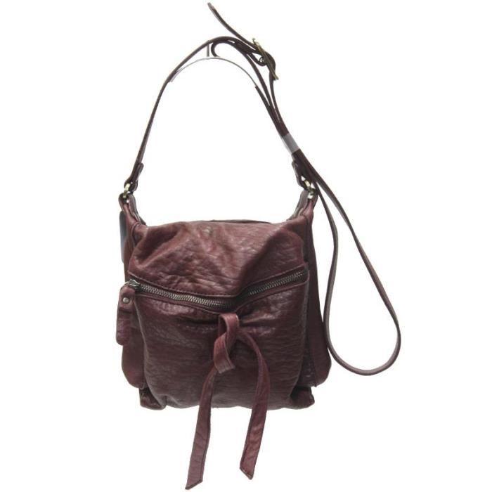 Petit sac pochette aridza bross cuir bordeaux achat vente petit sac pochette aridza b for Achat porte interieur bordeaux