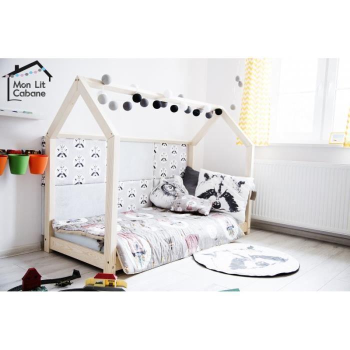 lit cabane maison en pin massif 60x120 achat vente structure de lit lit cabane maison en. Black Bedroom Furniture Sets. Home Design Ideas
