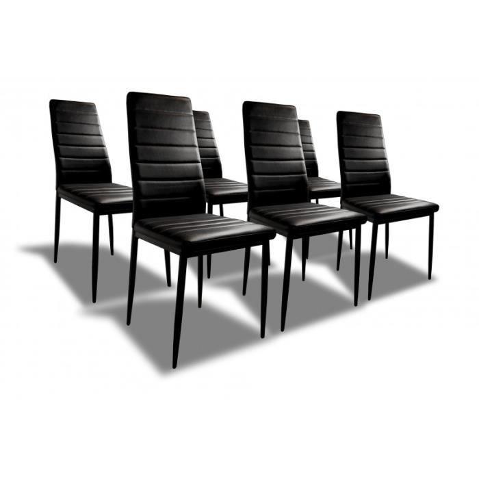 Sandy lot de 6 chaises de salle mange achat vente - Lot de 6 chaises ...