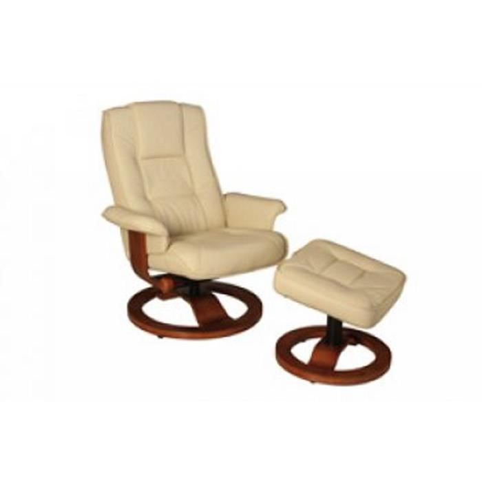 Fauteuil relaxation ivoire achat vente fauteuil beige cdiscount - Cdiscount fauteuil relax ...