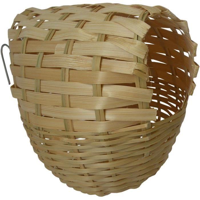 nid en rotin pour oiseaux exotiques achat vente nichoir nid nid en rotin pour oiseaux e. Black Bedroom Furniture Sets. Home Design Ideas