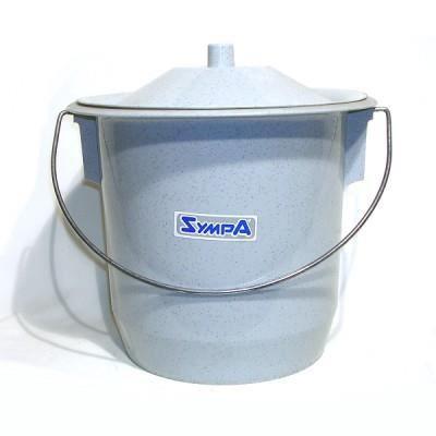 Seau hygi nique plastique adulte gris granit achat for Pot de chambre adulte