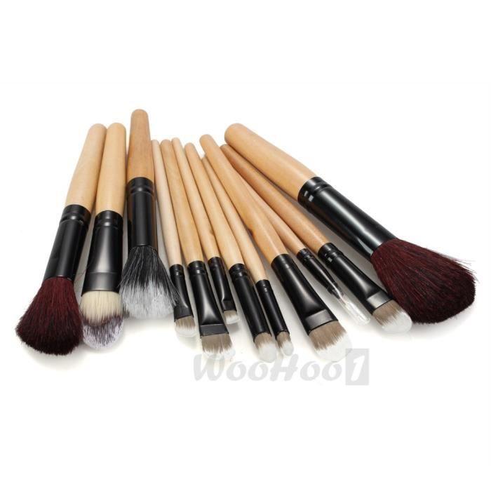 12pcs pinceau brosse fard joues teint poudre paupi res liner yeux trousse achat vente. Black Bedroom Furniture Sets. Home Design Ideas