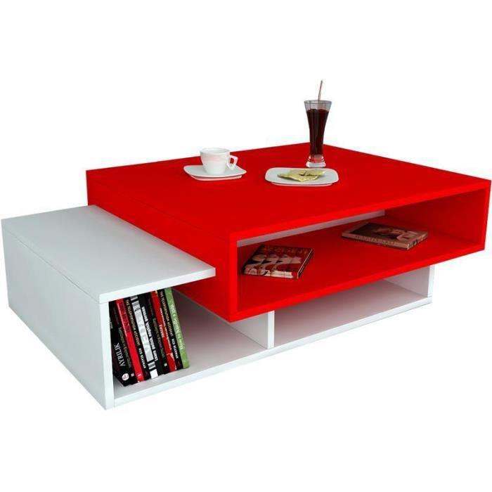 Biblioth que et autres rangements table basse achat for Table basse et haute a la fois