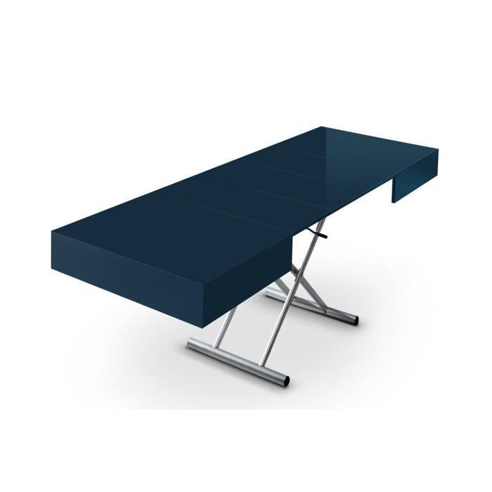 Table basse relevable et extensible bleu elevator achat for Table basse et haute a la fois