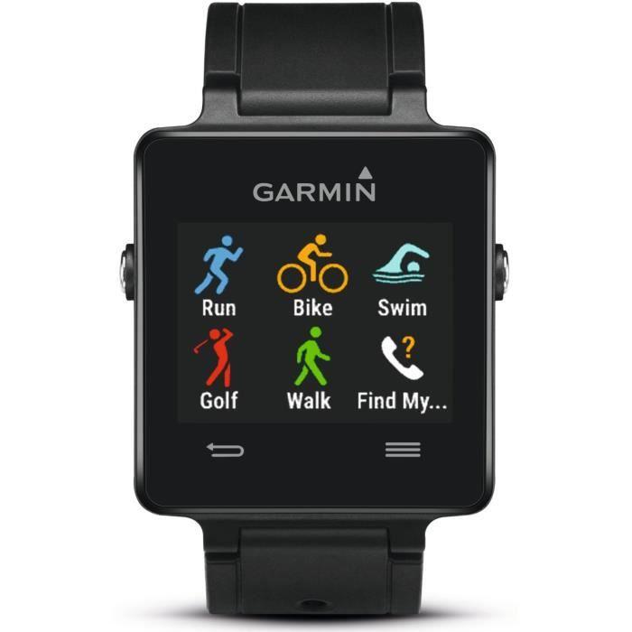 garmin vivoactive montre gps connect e noire smartwatch. Black Bedroom Furniture Sets. Home Design Ideas