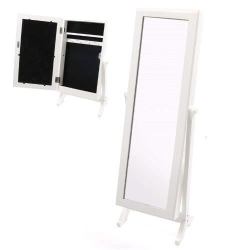 Miroir psych avec armoire bijoux bois laqu achat - Miroir psyche avec rangement ...