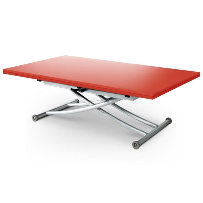 Table basse relevable carrera xl mat rouge achat vente table basse table basse relevable - Table basse relevable rouge ...