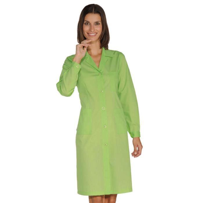 blouse de travail femme manches longues vert pomme noir. Black Bedroom Furniture Sets. Home Design Ideas