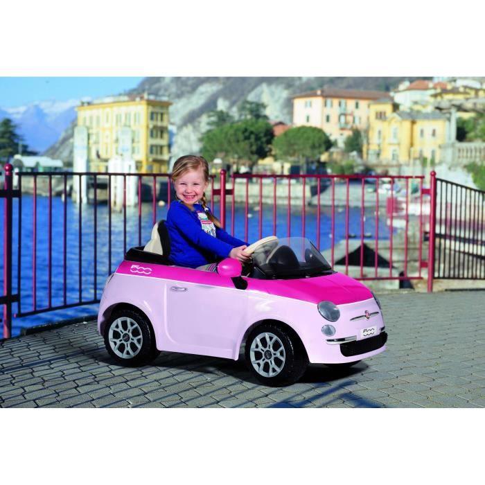 peg perego voiture electrique enfant fiat 500 rose 6 volts. Black Bedroom Furniture Sets. Home Design Ideas
