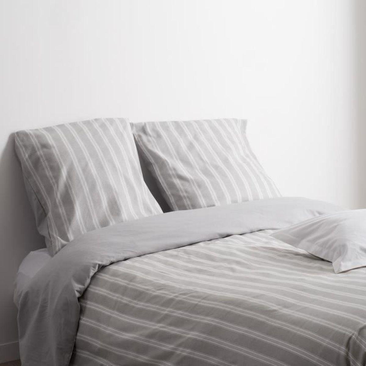 parure de lit flanelle pour 2 personnes gris 260 x 240 cm achat vente parure de drap. Black Bedroom Furniture Sets. Home Design Ideas
