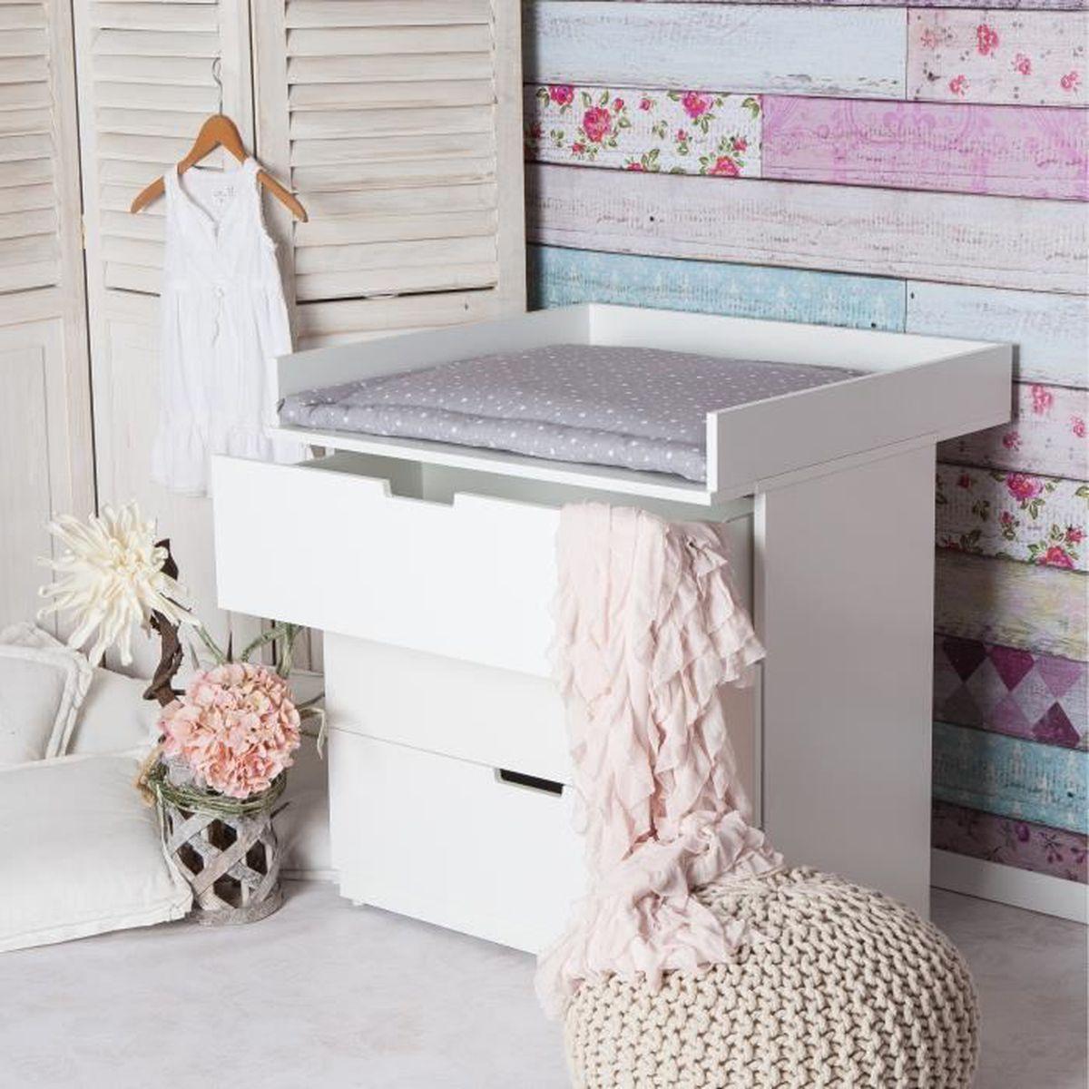 xs plan langer pour tous les commodes ikea nordli blanc blanc achat vente table langer. Black Bedroom Furniture Sets. Home Design Ideas