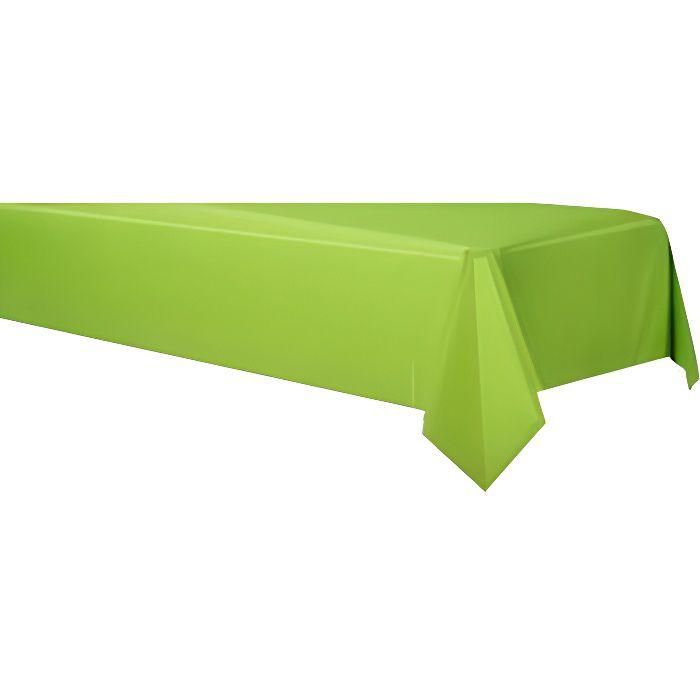Nappe papier vert anis achat vente nappe de table for Nappe et chemin de table en papier