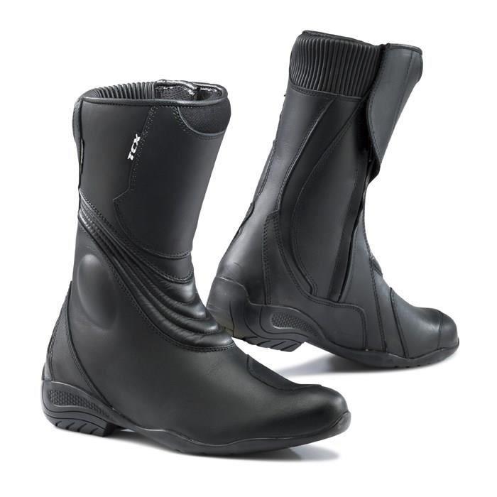 tcx lady aura paire de demi bottes moto femme noires. Black Bedroom Furniture Sets. Home Design Ideas
