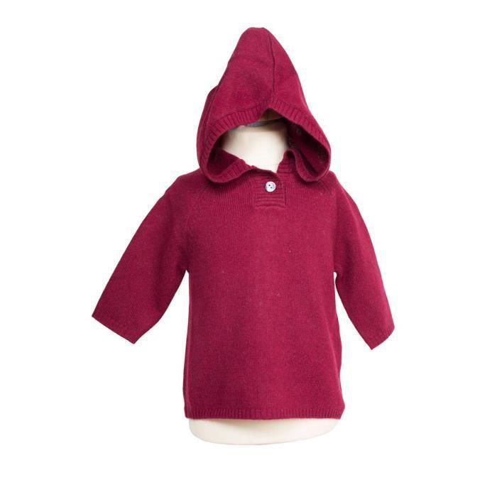 Pull cachemire enfant nobour rouge noir achat vente for Pull cachemire enfant