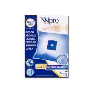 WPRO BS237-MW Sac aspirateur Bosch / 4 sacs + 1 FM Fermeture propreté