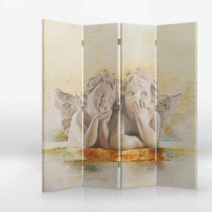 PARAVENT Paravent sur toile 145x150 double face ANGES