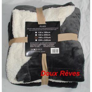 couverture polaire mouton achat vente couverture polaire mouton pas cher soldes d hiver. Black Bedroom Furniture Sets. Home Design Ideas