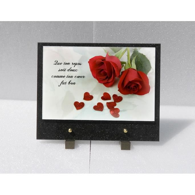 plaque funeraire achat vente plaque funeraire pas cher cdiscount. Black Bedroom Furniture Sets. Home Design Ideas