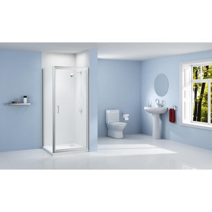 Paroi de douche 1 porte pivotante 75x190 achat vente cabine de douche par - Porte de douche occasion ...