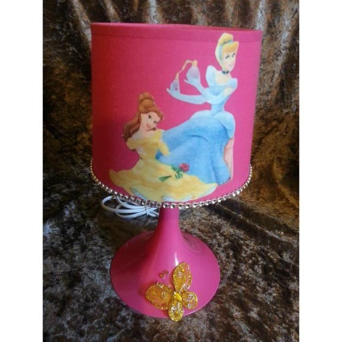 Lampe de chevet princesse 3d papillon jaune achat for Lampe de chevet pince