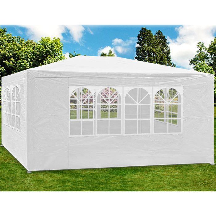 Tonnelle tente de jardin 3x4 m 12 m blanche achat vente tonnelle barnum tonnelle 3x4 Tente de jardin metro