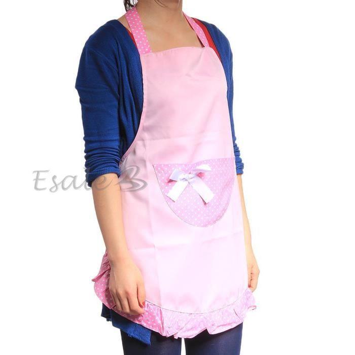 Tablier cuisine cuisinier bavette en coton rose achat - Model tablier de cuisine ...