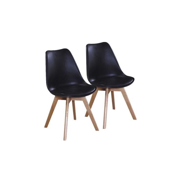 Lot de 2 chaises emmy noire achat vente chaise noir - Lot de chaises noires ...