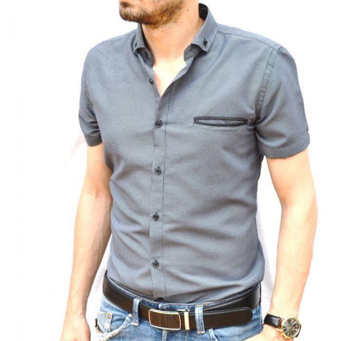 chemisette homme noire noir achat vente chemise chemisette cdiscount. Black Bedroom Furniture Sets. Home Design Ideas