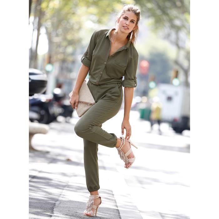 combinaison pantalon femme venca vert achat vente combinaison soldes cdiscount. Black Bedroom Furniture Sets. Home Design Ideas