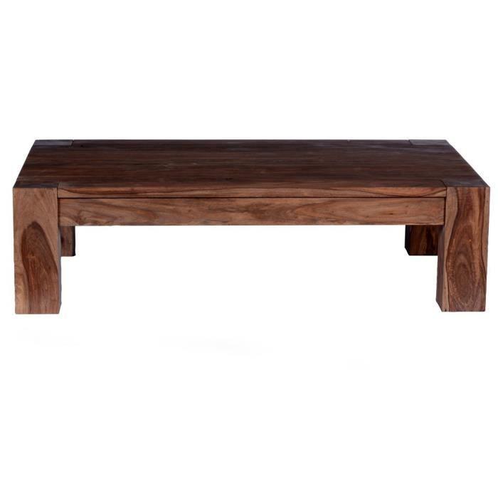 Table basse rectangulaire gueguen l 130 x l 85 x h 35 for Table basse 85 cm