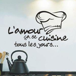 Stickers cuisine noir achat vente stickers cuisine - Sticker cuisine pas cher ...