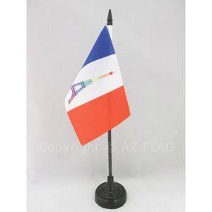 DRAPEAU DÉCORATIF Drapeau de table France Arc-En-Ciel 15x10cm - fran