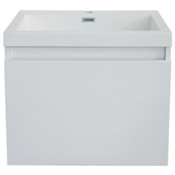Alterna meuble primeo 60 cm suspendu 2 tiroirs blanc r f for Meuble 2 tiroirs 60 cm woodstock
