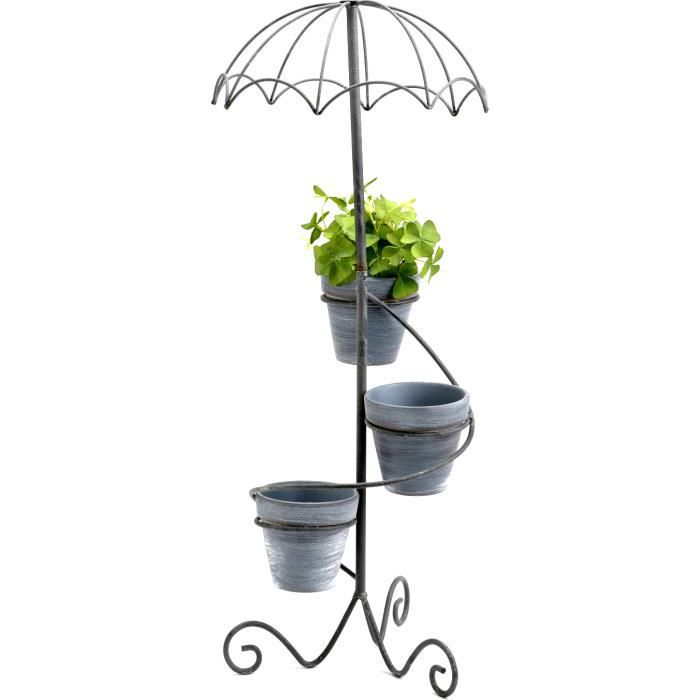 cache pot parapluie en m tal et pierre achat vente jardini re pot fleur cache pot. Black Bedroom Furniture Sets. Home Design Ideas