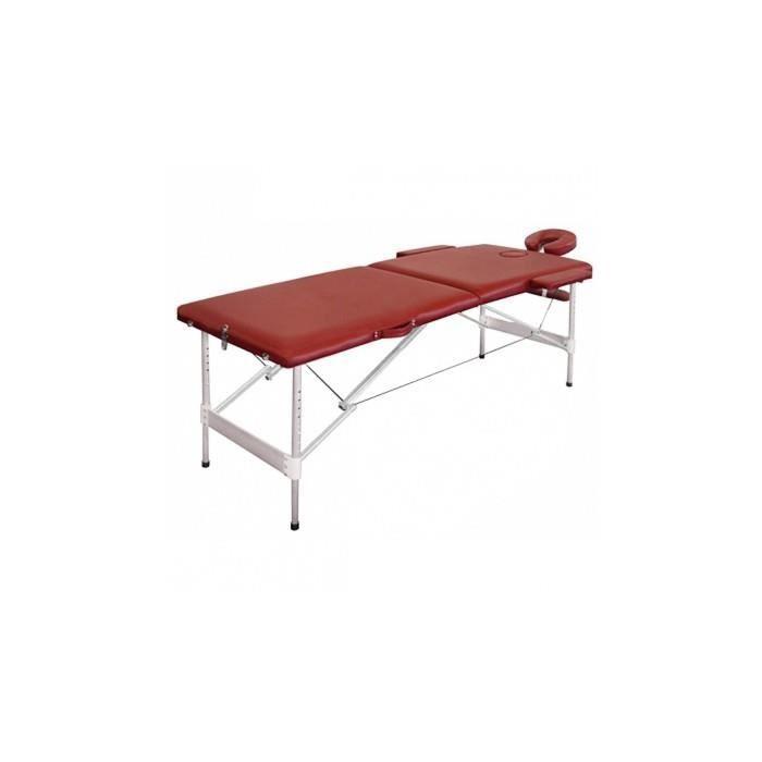 table de massage pliante avec 2 zones en alu rouge achat vente table de massage table de. Black Bedroom Furniture Sets. Home Design Ideas