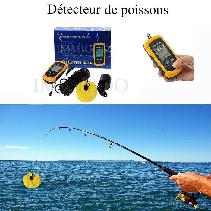 0 6 100m fish finder d tecteur de poissons sans fils portable visuel ultrason sondeur outillage. Black Bedroom Furniture Sets. Home Design Ideas