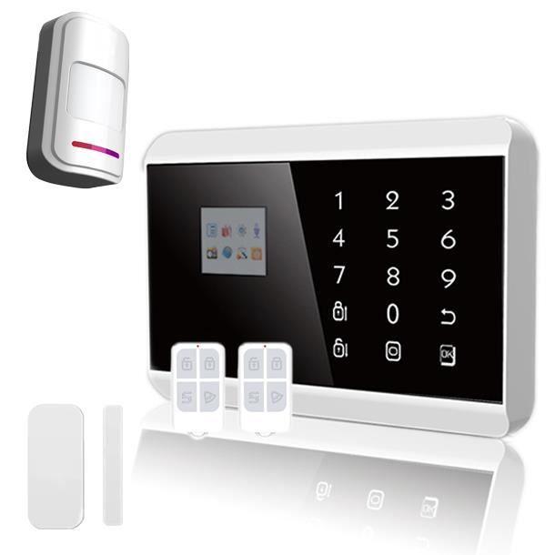Alarme maison sans fil gsm rtc 1 2 pi ces avec accessoires for Alarme maison sans fil avec gsm
