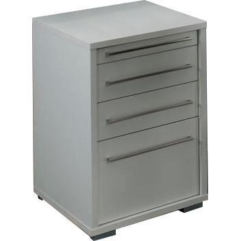 Caisson pour bureau 75 cm de haut coloris blanc achat for Bureau 75 cm
